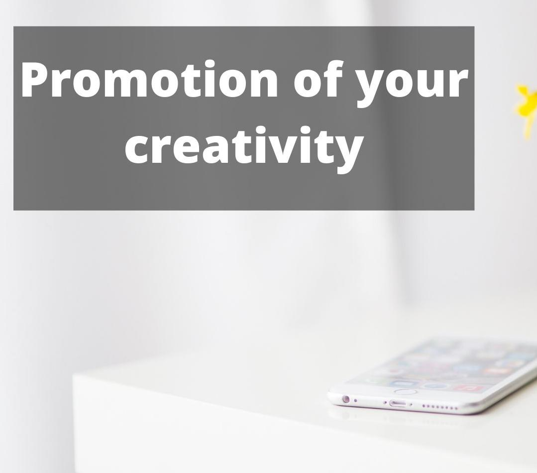 Promotion of your creativity on Instagram