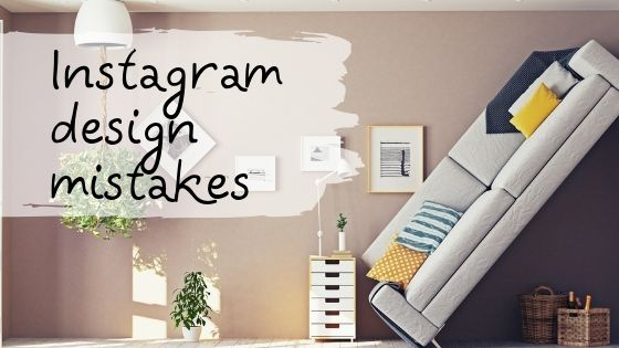 Instagram design mistakes. Why have some beautiful pages, while others not?