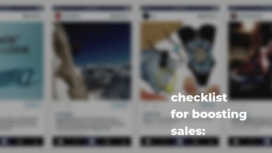 Things you should do on Instagram for boosting sales: checklist