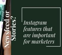 Newsfeed or Stories? Instagram features that are important for marketers